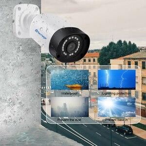 Image 5 - Techage H.265 4MP 5MP Sicherheit Audio POE IP Kamera Im Freien Wasserdichte IP66 48V POE ONVIF Mikrofon CCTV Video Überwachung