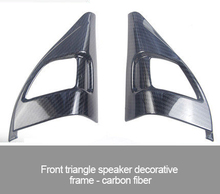 For Citroen c5 Aircross ABS chrome silver carbon fiber Front triangle speaker decorative frame 2pcs fit for citroen c5 aircross interior steering wheel moulding sequins abs chrome decoration cover 2pcs