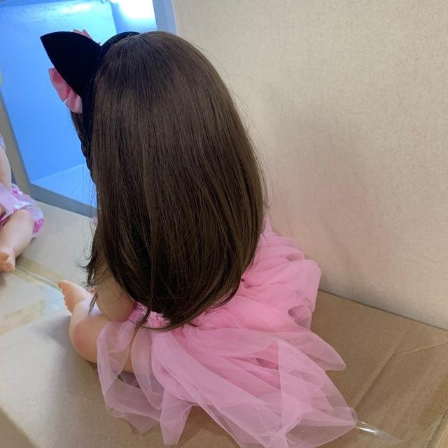Nuovo Dolce Viso Originale Npk Bebe Bambola Reborn Ragazza Del Bambino di Colore Rosa Della Principessa Baty Giocattolo Molto Morbido Corpo Pieno di Silicone Della Ragazza bambola Surprice