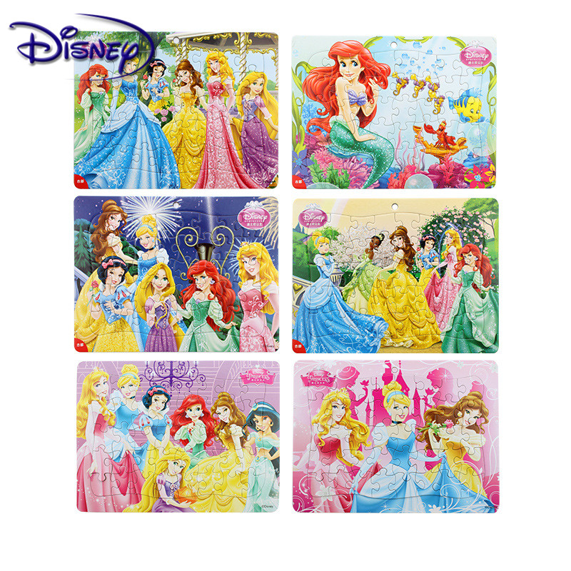 Disney 40 Piece Puzzle Princess / Ice Princess Box 3-5 Years Puzzle Puzzle Children Gift Puzzle Random Pattern