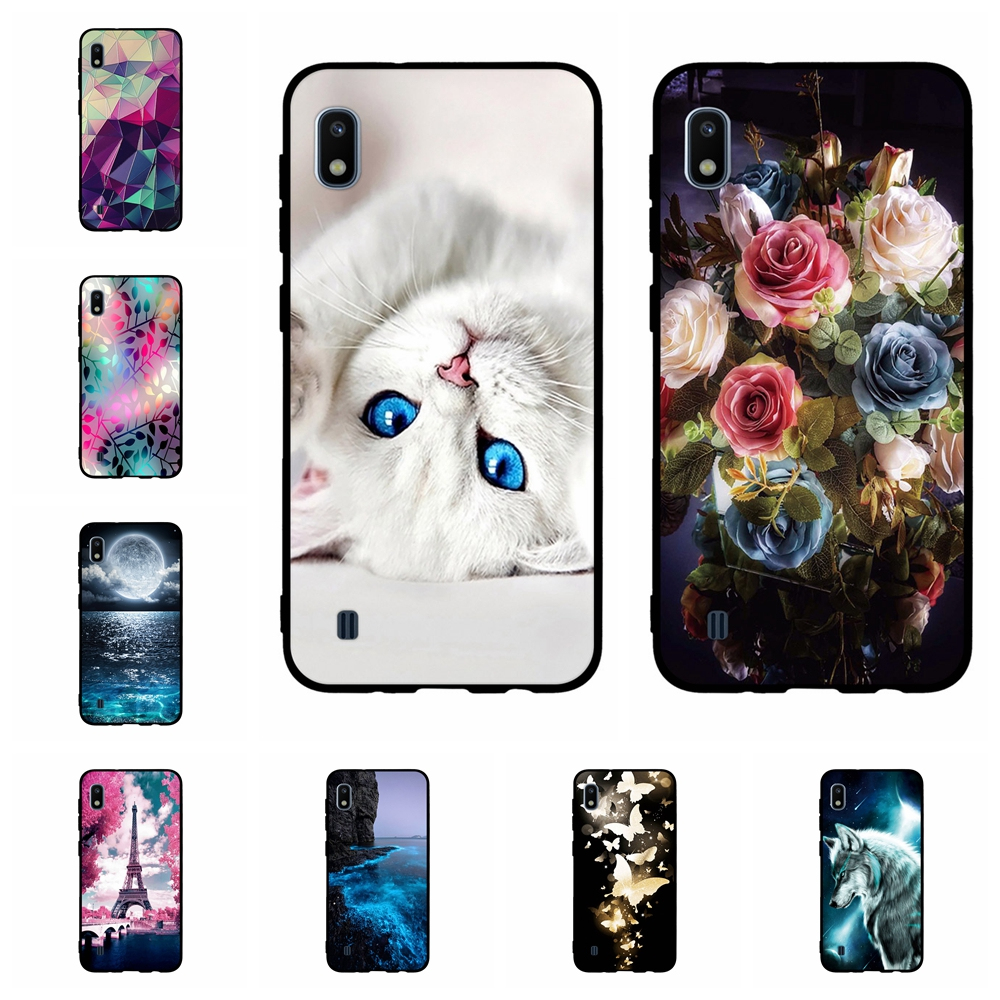 For Samsung Galaxy A10 Cover Soft Silicone SM-A105F Case Butterflies Pattern Coque