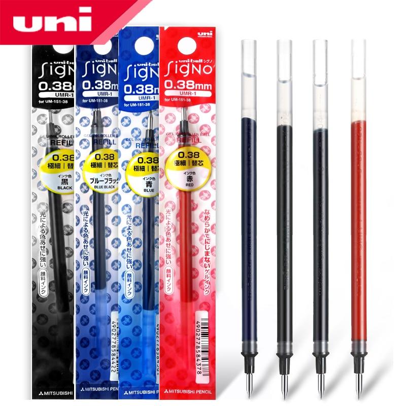 12 Pcs/Lot Uni-Ball Signo Refill UNI Mitsubishi UMR-1 Gel Pen Refill 0.38mm Fine Financial For UM-151