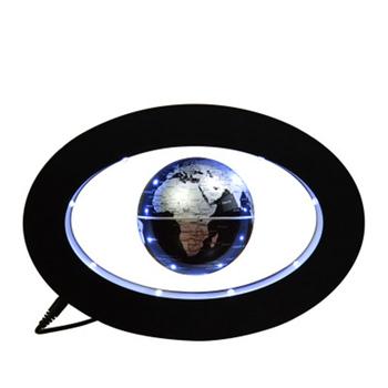 Nowy Home Decor elektroniczna lewitacja magnetyczna pływające kule astronomia kulki dekoracyjne idealny prezent dla każdego domu lub biura tanie i dobre opinie Z tworzywa sztucznego Oval Levitating Globes Black Levitating Globes 25x17x5CM Diameter 8 5CM English 8pcs LED Lights DC Output 12V 1000mA