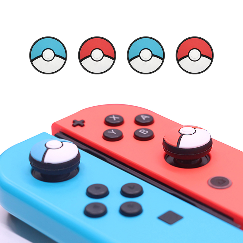 IBen ThumbStick Silicone Button Grip Cap Case For Nintend Switch Accessories Joycon Poke Ball PS4 Gamepad Joystick