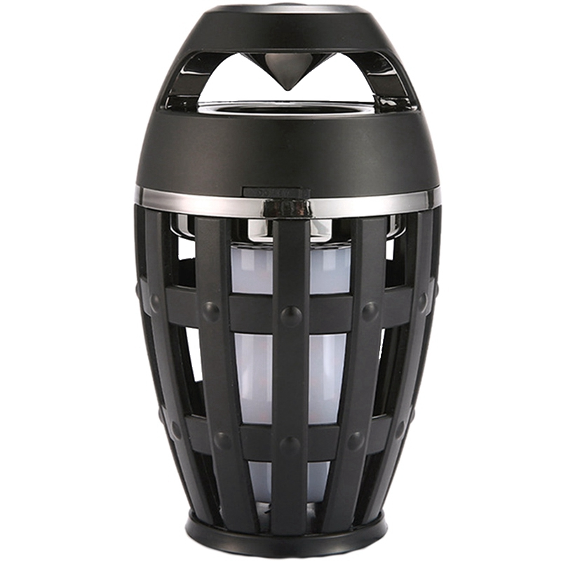 Promotion--2In1 Flame Atmosphere Lamp Light Bluetooth Speaker Portable Wireless Stereo With Music Bulb Outdoor Camping