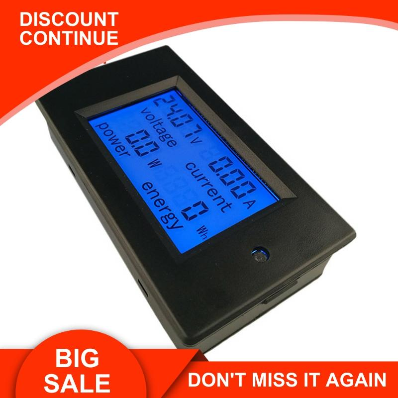 PEACEFAIR DC 6.5-100V 20A 4 IN1 Digital LCD Ammeter Voltmeter Voltage Current Power Energy Car Motorcycle Volt Meter