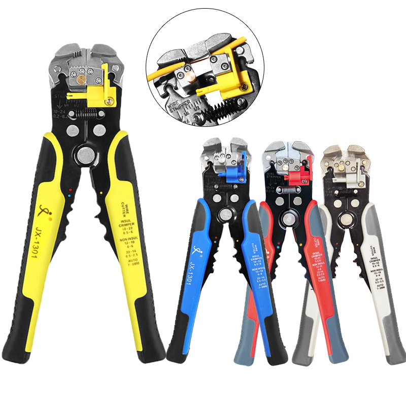 Wire Stripper, Self-Adjusting 8.4 Inch Cable Cutter Crimper , 3 In 1 Multi Pliers For Wire Stripping, Cutting, Crimping