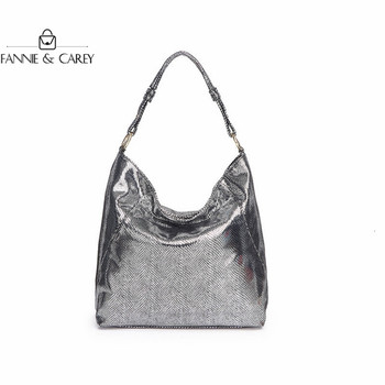 New Fashion Bags Design Women Shoulder Bags PU Leather Handbag Elegant Crossbody Bag Luxury Ancient Silver Color Clutch Bag