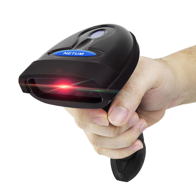 NETUM NT-1698W Handheld Wirelress Barcode Scanner AND NT-1228BL Bluetooth 1D/2D QR Bar Code Reader PDF417 for IOS Android IPAD 1