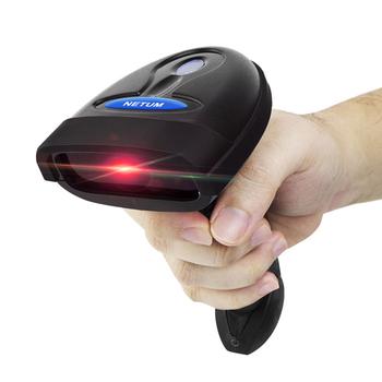NETUM NT-1698W ręczny bezprzewodowy skaner kodów kreskowych i NT-1228BL Bluetooth 1D 2D QR kod kreskowy czytnik PDF417 dla IOS Android IPAD tanie i dobre opinie Barcode Scanner 600 dpi CMOS 100 scans second NT-2012 32 bit Bar Code Scanner Nowy Światło lasera