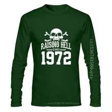 Raising Hell Since 1972 Biker T Shirt, Fashion For Dad Grandad Birthday Gift Cool Pride T Shirt Men Unisex New Tshirt