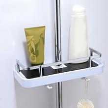 Multifunctional Bathroom Single Layer Rack Wall Mounted Punch-free Storage Tray Holder floating shower shelf