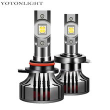 Ban Đầu XHP50 2 X H4 H1 Led Đèn Pha 4300K 6000K H7 H11 HB3 HB4 9005 9006 h8 H9 Bóng Đèn 80W 18000lm Đèn Xe Ô Tô 12V