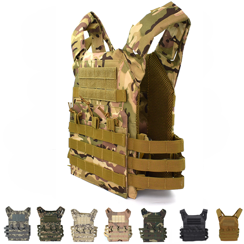 JPC Tactical Equipment Multicam Molle Vest Army Military Plate Carrier Vest Body Armor Men Outdoor Airsoft Hunting Vest