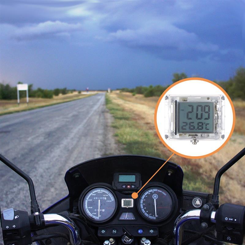 TiooDre Horloges Moto Universal Montre Mont Moto Waterproof Horloge Montre Moto Horloge num/érique