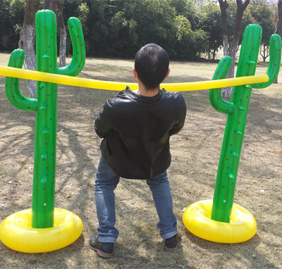 Inflatable Slippery Set Crossbar Beach High Jump Toy Inflatable Sense Training Kindergarten Toy Outdoor Inflatable Game