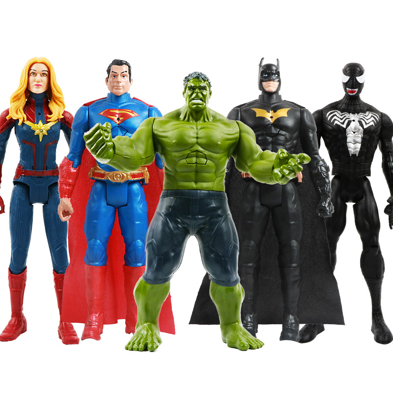 12''/30cm Marvel Avengers Venom Batman Flash Superman Spiderman Thanos Hulk Iron Man Thor Wolverine Action Figure Toys Kid Gifts
