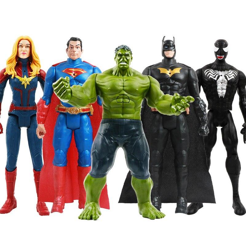 12''/30cm Marvel Avengers Venom Spiderman Thanos Hulk Iron Man Thor Wolverine Action Figure Toys Kid  Birthday Gifts