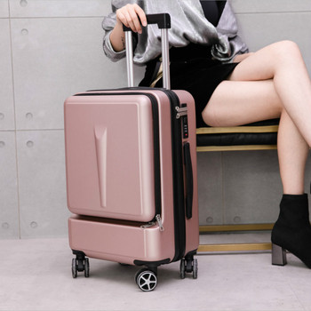 Women Cabin Luggage Trunk Fashion Men Trolley Luggage Rolling Suitcase  Student Ultralight Suitcases Wheels Trolley Travel Bag letrend korean trolley cute pink suitcase wheels cosmetic case women vintage leather travel bag retro password box cabin luggage