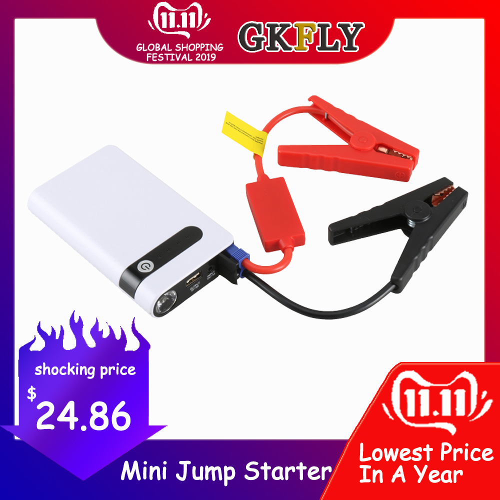 GKFLY Multi-Function 12000mAh Car Jump Starter Power Bank 12V Starting Device Diesel Petrol Car Charger For Car Battery Booster