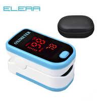 Oxymètre de pouls du bout des doigts ELERA LED avec poche oxygène du sang SPO2 PR Saturation moniteur Oximetro Portable oximetro de dedo