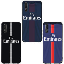 MA Football PSG Jersey Style Phone Case Cover For Huawei Psmart P10 P20 P30 Lite 2019 Honor 8X 9 10 V20 Mate 10 20 lite pro Case(China)