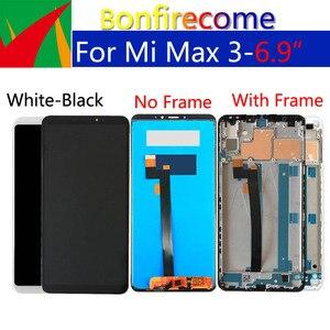 """Image 3 - 6.9 """"oryginalny wyświetlacz dla xiaomi max 3 LCD z ekranem dotykowym Digitizer z ramką zamiennik dla xiaomi max 3 ekran do montażu"""