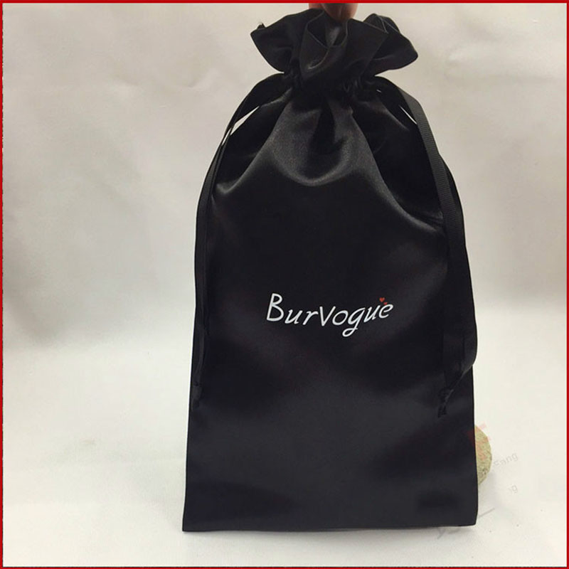 Satin Packaging Bag For Hair Silk Bags Jewelry Satin Bag Product Packaging Pouches Custom Logo Drawstring Bags Wholesale