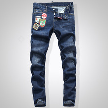 лучшая цена Stretch D2 Jeans Length of Young Beggars in Autumn and Winter
