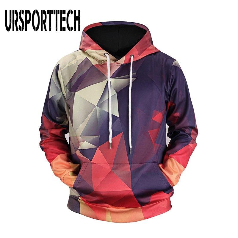 2019 New Geometric Printing Hoodies Men 3d Print Streetwear Fashion Hoody Men's Clothing 3D Mens Hoodies Sweatshirts Hip Hop