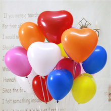 100pcs/lot 12inch  2.2g Romantic Heart Latex Helium Balloon Inflatable Birthday Party Decorations Kids Wedding Balloons ballon