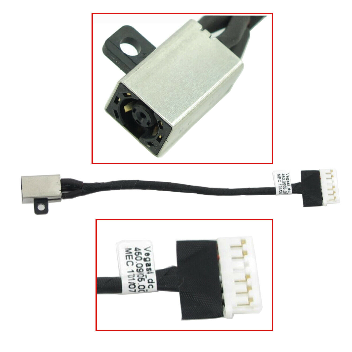 New DC POWER JACK Cable Harness For Dell Inspiron 15 3567 FWGMM 450.09W05.0001 0FWGMM