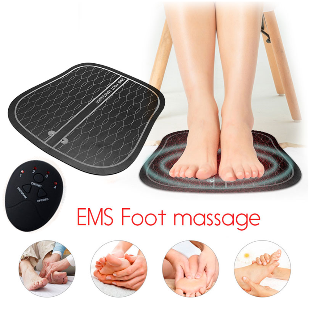 Electric EMS Foot Massager ABS Physiotherapy Revitalizing Pedicure Tens Foot Vibrator Wireless Feet Muscle Stimulator Unisexaid kitfirst aid kitemergency bag -