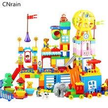 цены на 230pcs Large Big Block sets Compatible with Duplo Happy Dreamland amusement Building Block Kids DIY Creative Toys Children Gift  в интернет-магазинах