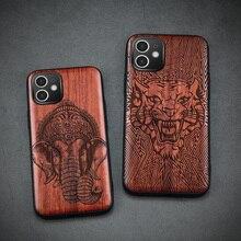 Carveit מקרה עץ עבור iPhone Xr 11 12 פרו מיני 7 8 בתוספת X Xs מקס טלפון פגז יוקרה עץ SE 2020 כיסוי סיליקון אבזר גוף