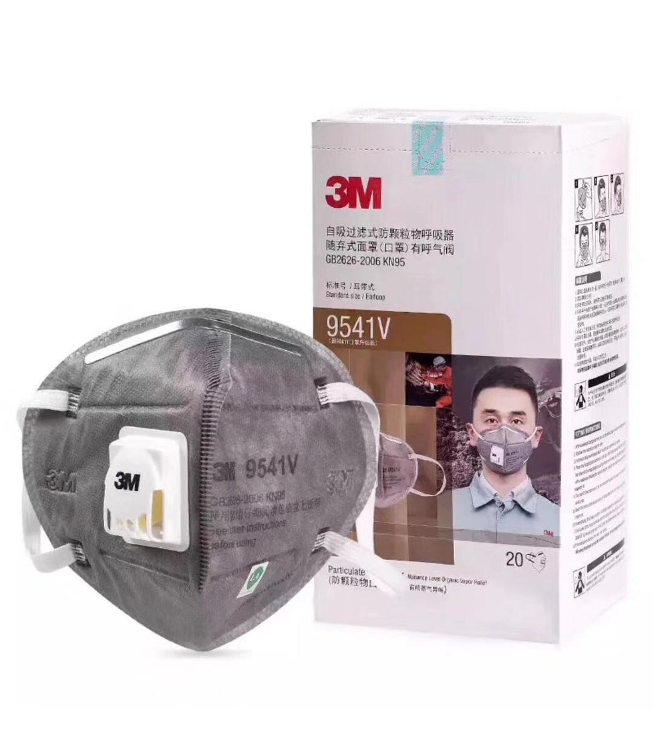 3M 9541V N95 Grey Safety Protective FFP2 Dust Safe Masks Anti-PM 2.5 Sanitary Working Respirator With Filter Structure
