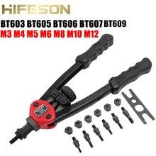 Hand Rivet Nut Guns BT603 605 606 607 609Insert threaded Manual Riveter Nut Riveting Rivnut Tool for Nuts M3 M4 M5 M6 M8 M10 M12 rtm875t 605 rtm875t 606 rtm875t 433