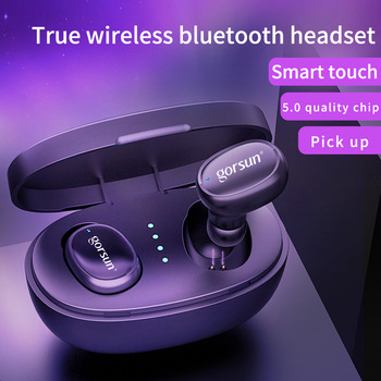 Gorsun V8 TWS BT5.0 Bluetooth Headset Wireless Earbuds In-Ear Fingerprint Touch 3D stereo wireless earphone with dual microphone t50 tws bluetooth headset sports touch wireless earphone 3d stereo microphone wireless earbuds charging box
