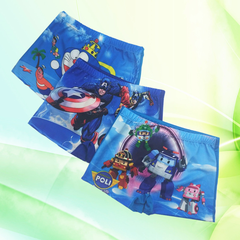 CHILDREN'S Swimming Trunks BOY'S Baby Bathing Suit Big Kids Cute Swimwear Cartoon Soft-Style Boy Boxer Swimming Trunks