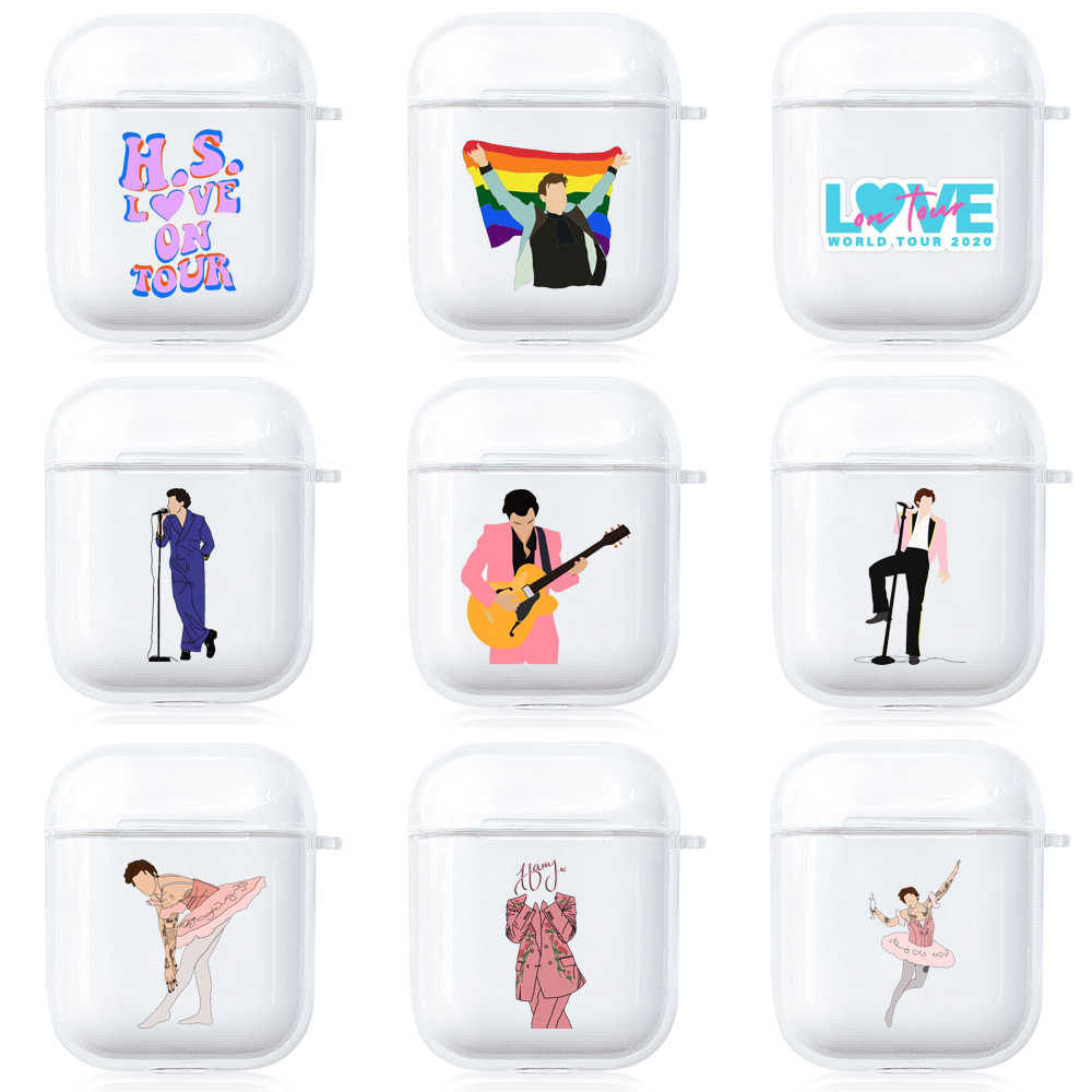 Harry Styles Airpods Case Airpods 1 2 Pro Transparent Airpods Cover Protects Cute Wireless Earphones.