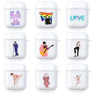 Image 1 - Etui Harry Styles na Apple AirPods 1 2 ochronne przezroczyste etui na słuchawki miękki futerał silikonowy lub Apple Airpods Pro Cover