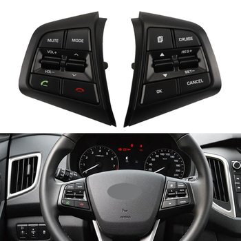 For Hyundai CRETA 1.6L 2.0L IX25 Steering Wheel Buttons Cruise Control Bluetooth Switches Remote Volume Button Car Accessories cruise set mfsw mf steering wheel module