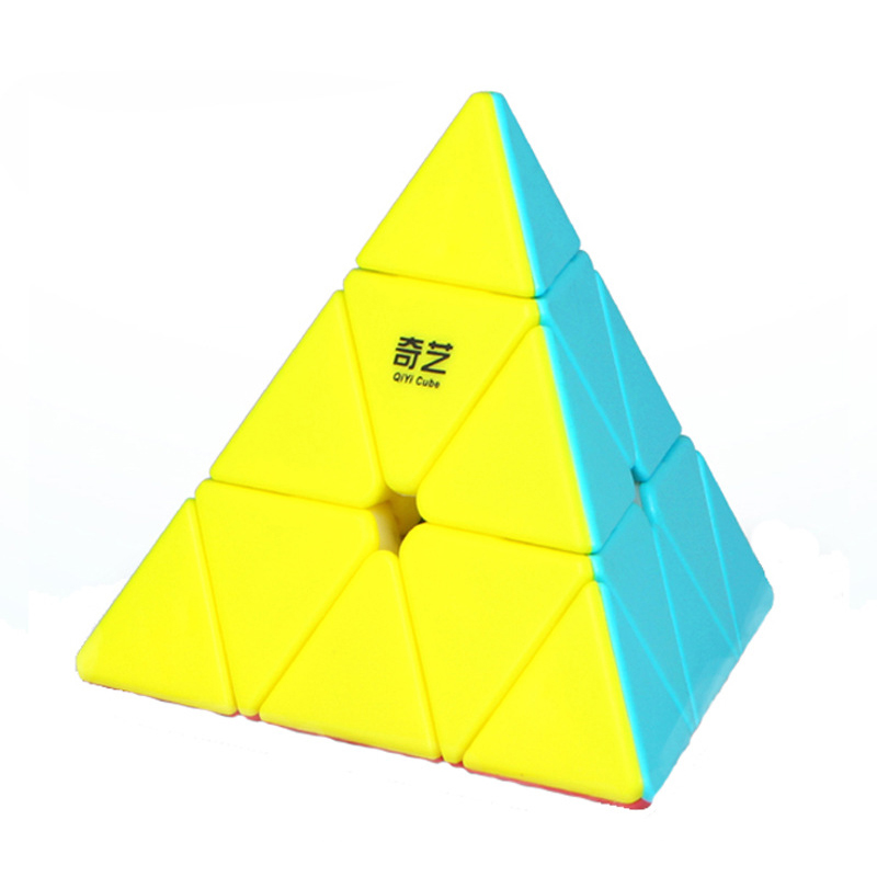 QiYi Pyraminx Solid Color Profissional Magic Cube Competition Speed Puzzle Cubes Toys For Kids Cube Game-specific 4 Colors