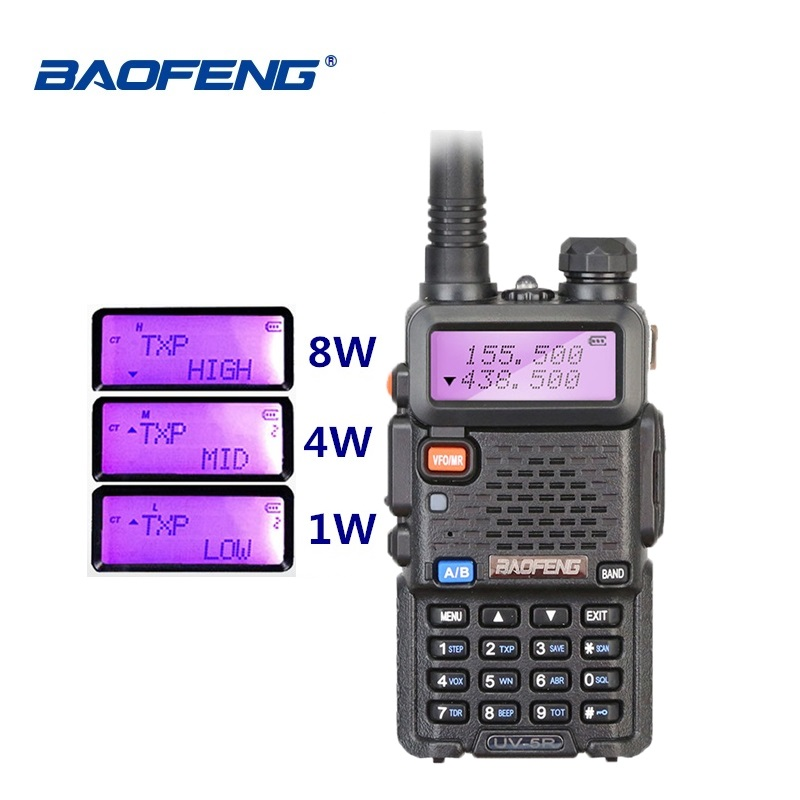 Baofeng UV-5R 8W Walkie Talkie Dual Band VHF UHF Two Way Radio UV 5R Ham HF Transceiver CB Radio UV5R Hunting Radio Comunicador