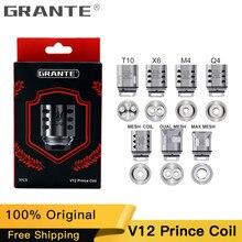 100% Original Grante V12 Prince Atomizer Coil Q4 M4 X6 T10 Mesh Core For SMOK TFV12 PRINCE Tank E-Cigs Vape Coil Head цены