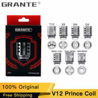 100% Original Grante V12 Prince Atomizer Coil Q4 M4 X6 T10 Mesh Core For SMOK TFV12 PRINCE Tank E-Cigs Vape Coil Head