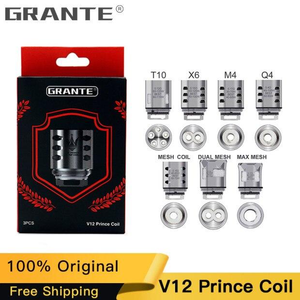 100% Original Grante V12 Prince atomiseur bobine Q4 M4 X6 T10 noyau de maille pour SMOK TFV12 PRINCE réservoir e-cigs Vape tête de bobine