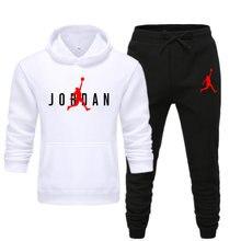 Новые мужские комплект с толстовкой на ребенка старше Jordan 23 спортивные костюмы, комплект из свитера из флиса с капюшоном для девочек + спорт...