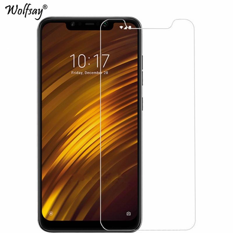 2PCS F1 Glass Xiaomi Pocophone F1 Screen Protector Tempered Glass For Xiaomi Pocophone F1 Protective Film Xiaomi Pocophone F1