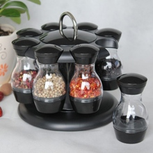 Jars Organizer-Sets Spice-Rack Herb Revolving Spices-Spinning Kitchen for Countertop